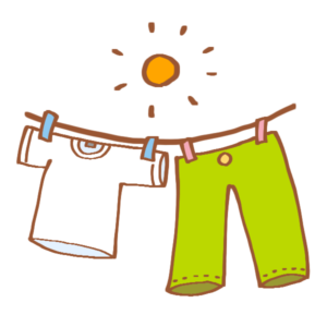 晴天の洗濯物
