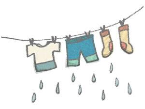 雨の日の洗濯物