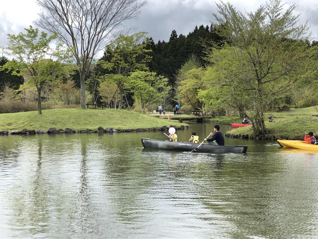 富士山こどもの国にてカヌー体験