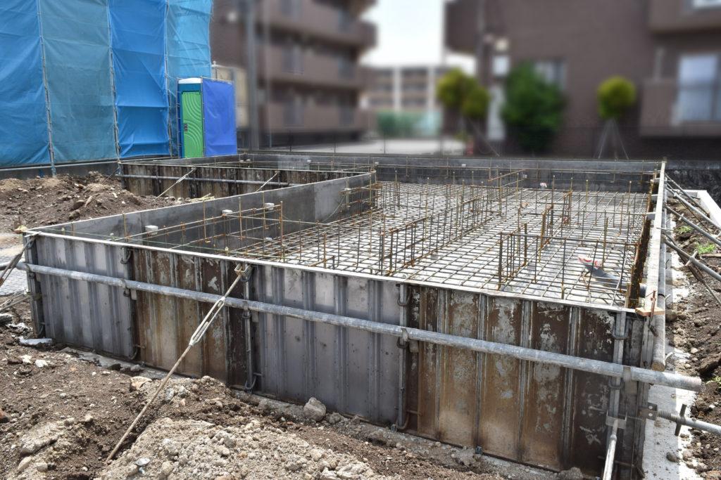 2019年6月11日に確認した基礎工事現場