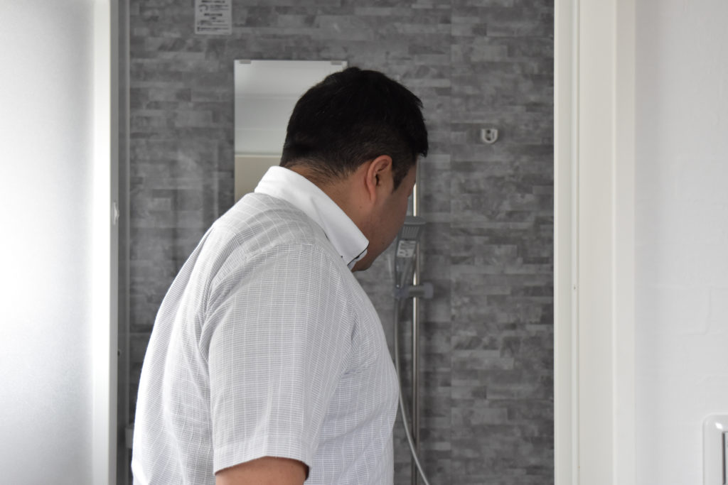 2019年6月11日一件目の現場廻りでバスルームを確認