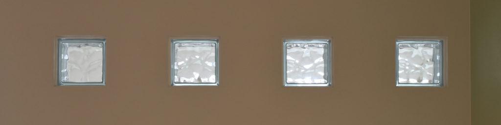 2019年7月5日社内検査を行った階段壁に施したこだわりのガラス