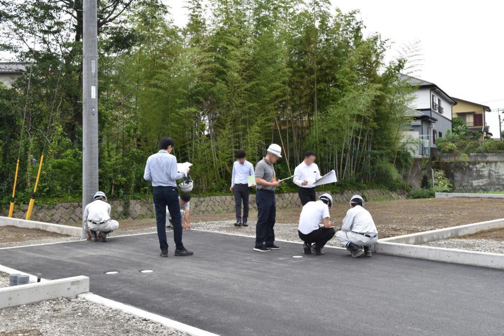 2019年7月9日三島市中区分譲地完了検査の様子