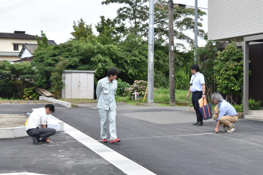 2019年7月9日三島市中区にある分譲地の完了検査