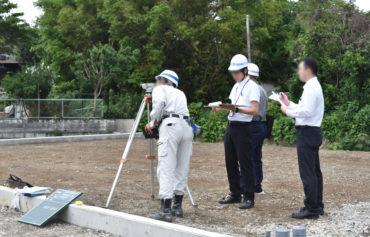 2019年7月9日三島市中区分譲地を検査している様子