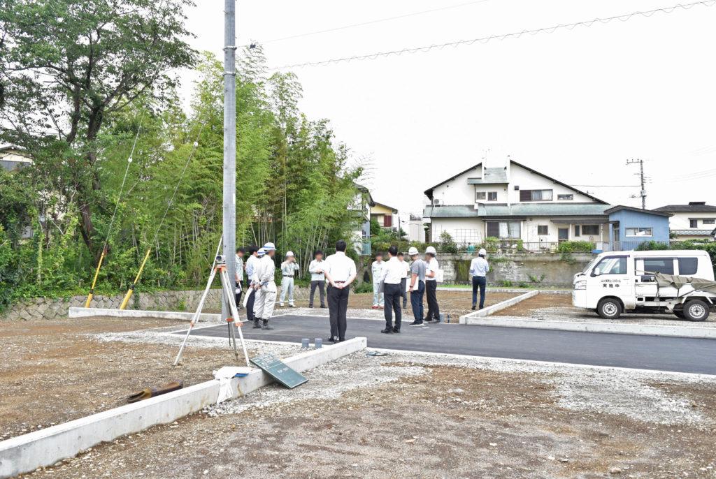 2019年7月9日三島市中区分譲地を検査が始まる時の写真