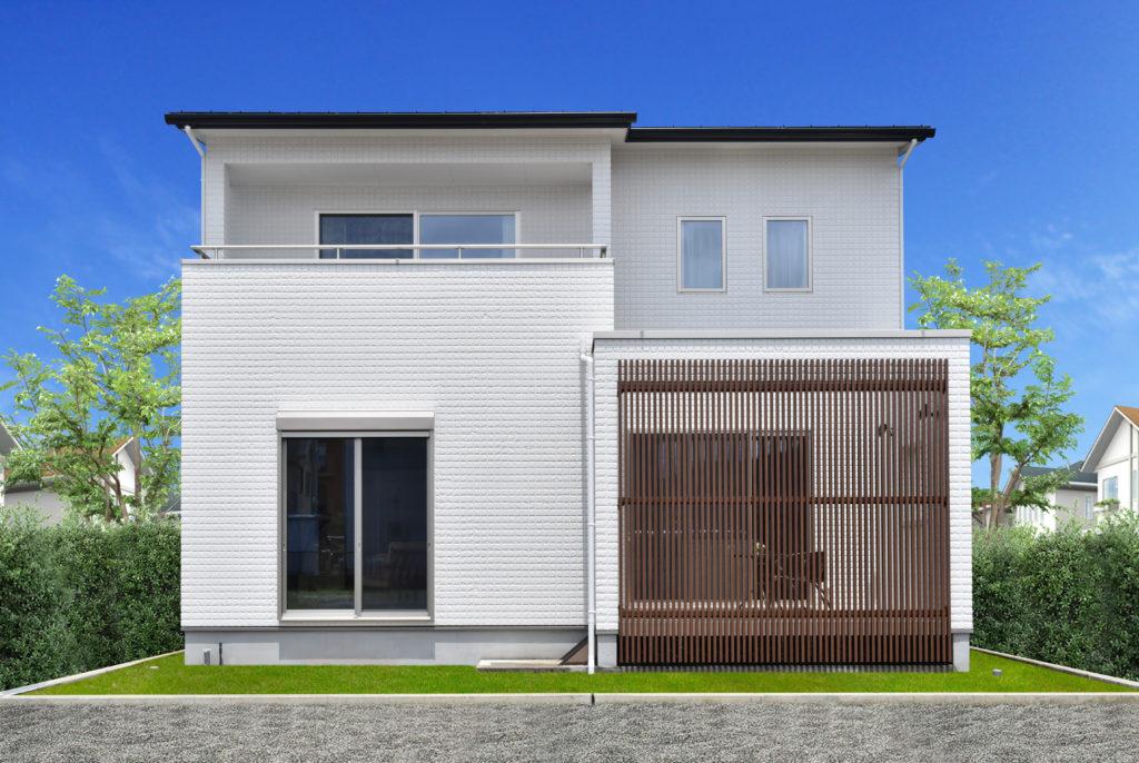 2019年7月完成現場見学会の新築住宅の外観裏