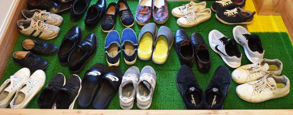 2019年6月見学会で玄関に並んだ靴