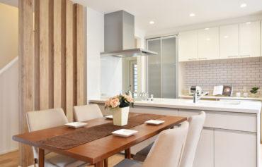 対面式キッチンを採用した、家族コミュニケーションが取りやすいダイニングキッチン