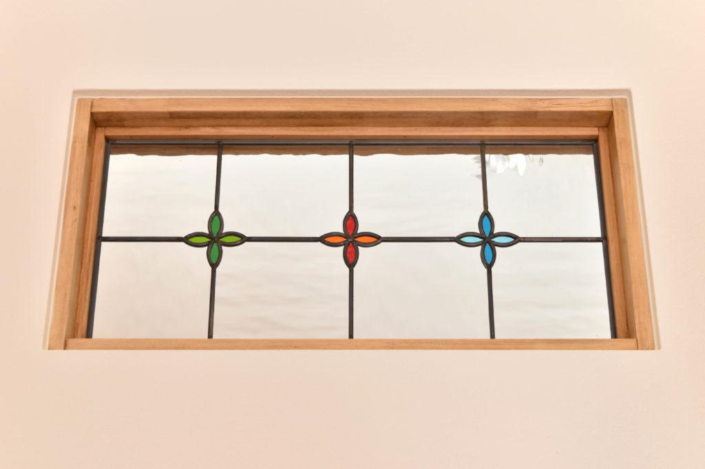 2019年11月11日社内検査2件目のお家に施したステンドグラスの窓