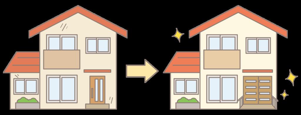 バリアフリー住宅のイラスト