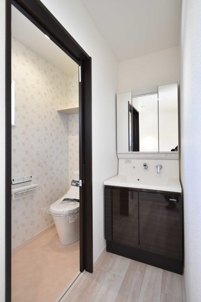 2020年3月24日実施の社内検1件目にて確認を行ったトイレと洗面台