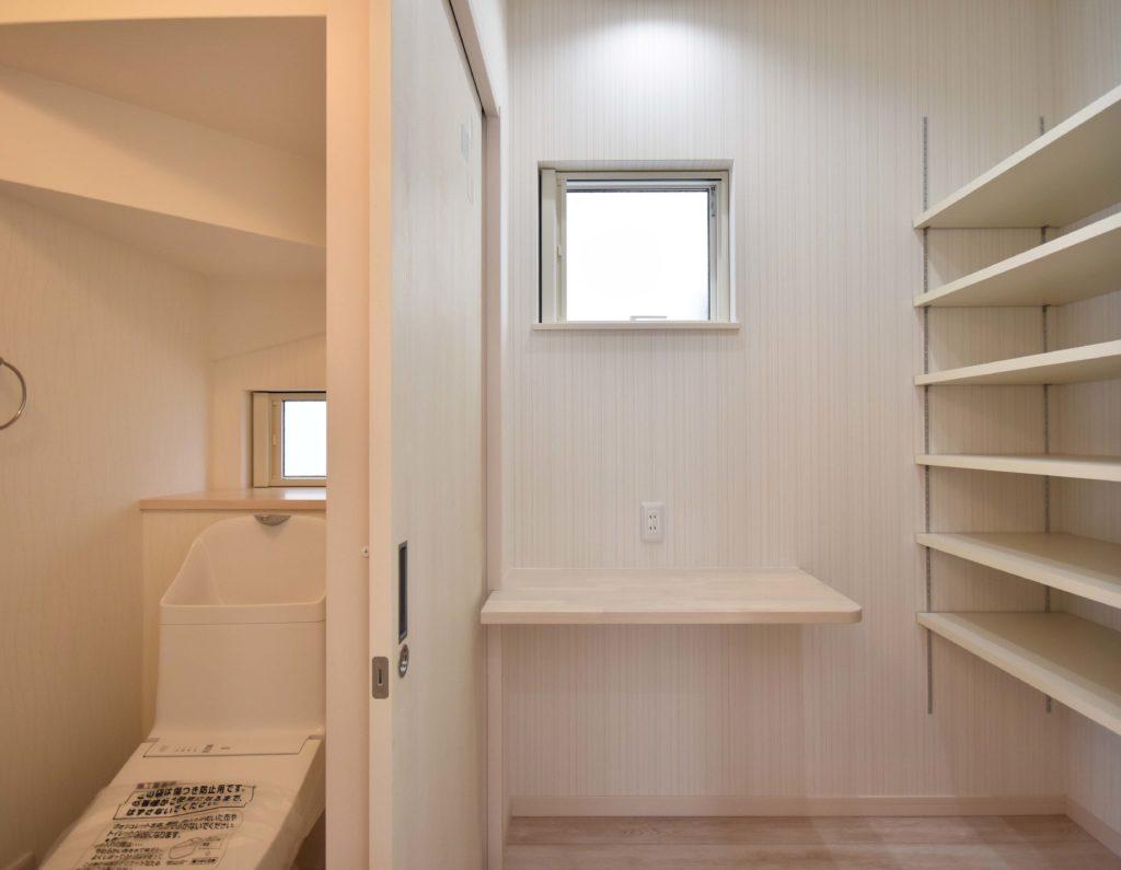 2020年5月8日社内検査_階段下を利用したトイレとユーティリティスペース