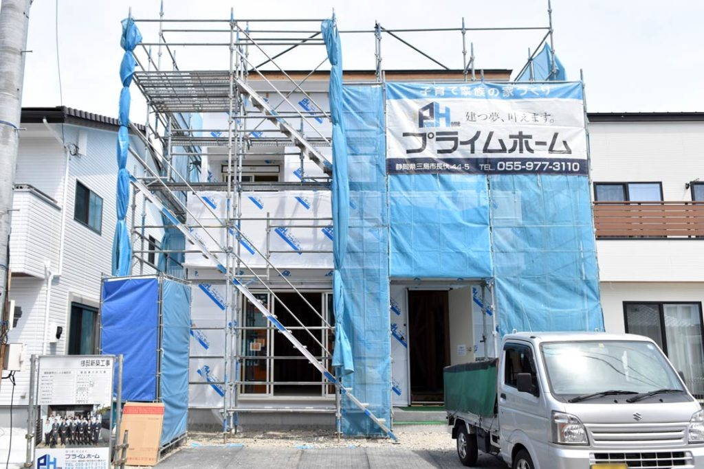 2020年6月9日現場廻り_三島市で建築中の注文住宅