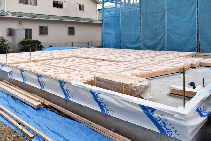 2020年10月13日土台検査_床充填専用フェノールフォーム断熱材を配置し終わった時の写真