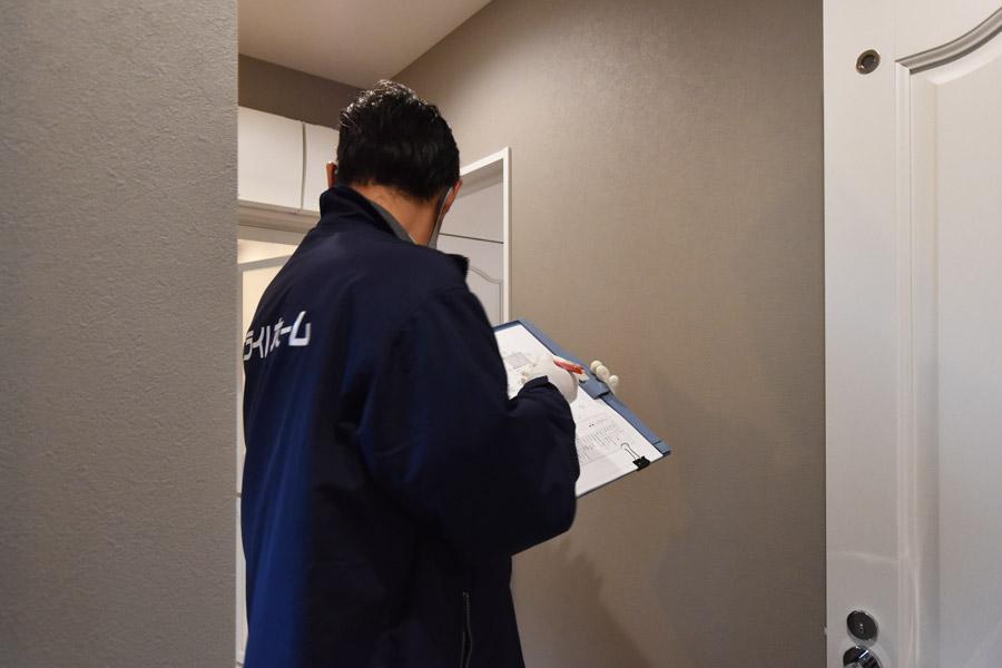 2020年12月14日裾野市K様邸にて社内兼検査を行っている様子
