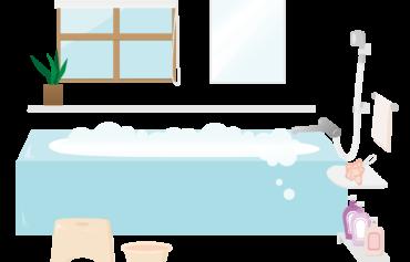 ユニットバスのイラスト_浴槽