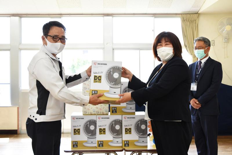 三島市立松本幼稚園にサーキュレーターを寄贈_プライムホーム