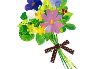野の花の花束のイラスト