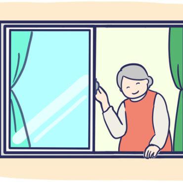 窓のサッシのイラスト