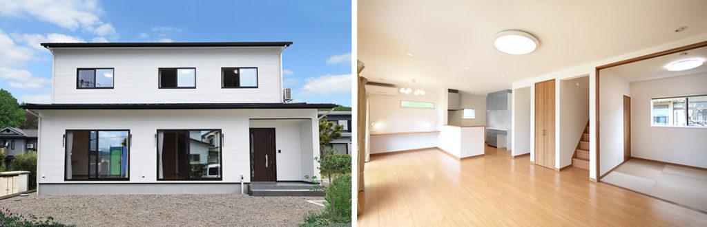 お客様の声_日当たりの良い快適な新築住宅_リビング階段のあるLDK