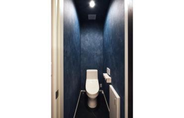 シックで落ち着いた雰囲気のトイレ。
