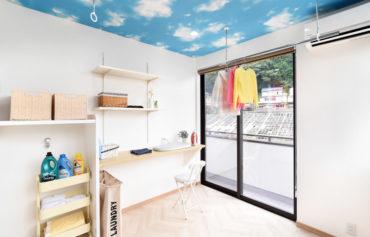雨天や時間を気にすることなく洗濯家事ができるランドリールーム。家事室にも最適です♪